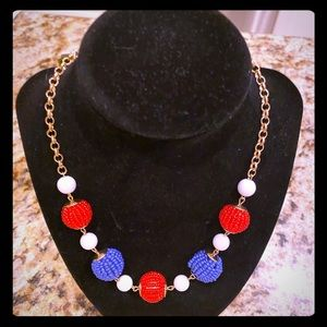 NWT perfect Fourth of July necklace- patriotic!